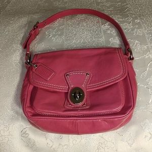 Coach Patent Leather Raspberry (Hot Pink) Bag